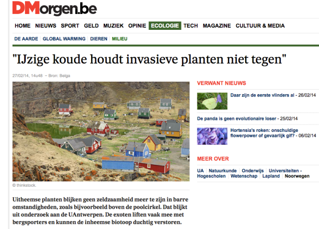 My story on DeMorgen.be
