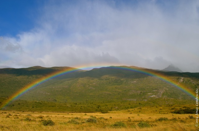 Rainbow in Torres del Paine