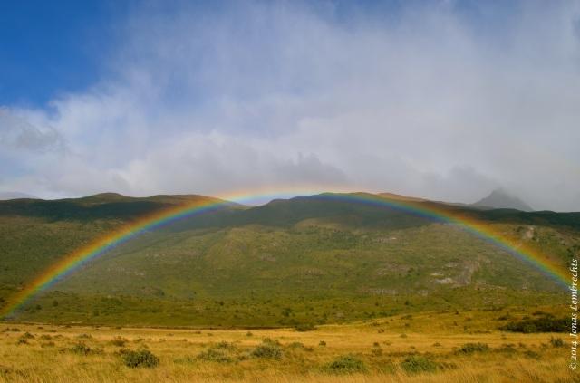 Rainbow in Torres del Paine