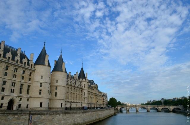 La Conciergerie and the Seine, Paris