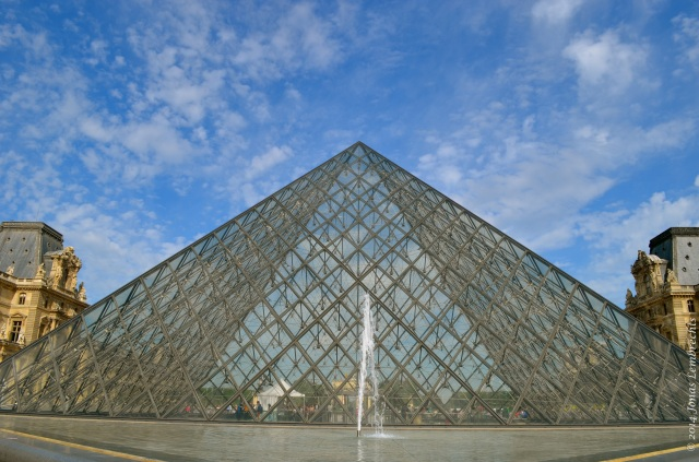 The glass pyramid of the Louvre