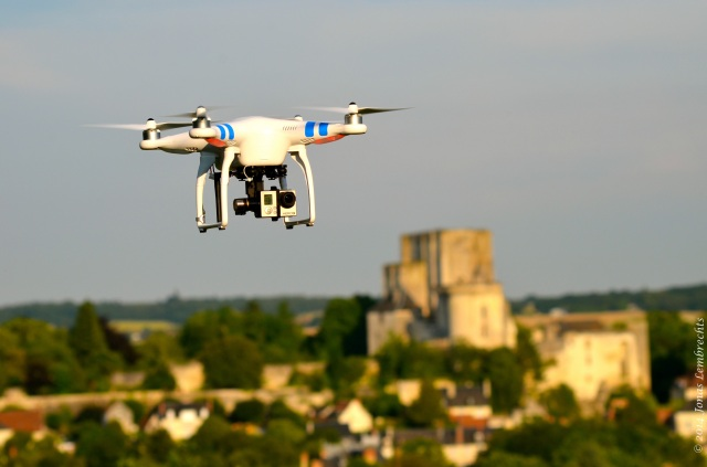 Drone and the keep of Loches