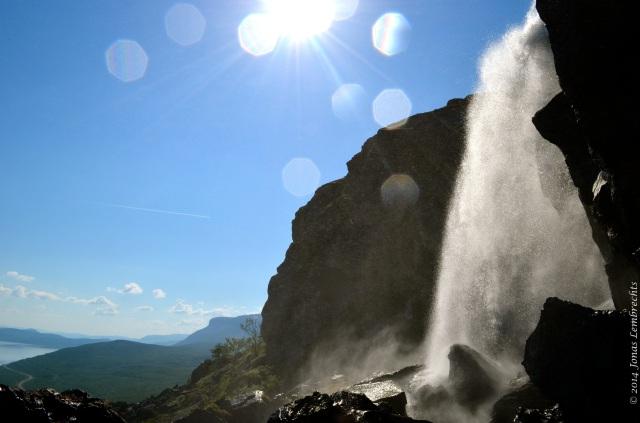 Waterfall in Swedish mountains