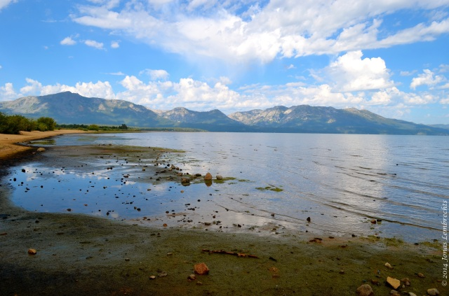 Lake Tahoe with the Sierra mountains