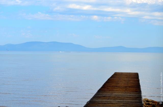Boardwalk above lake Tahoe