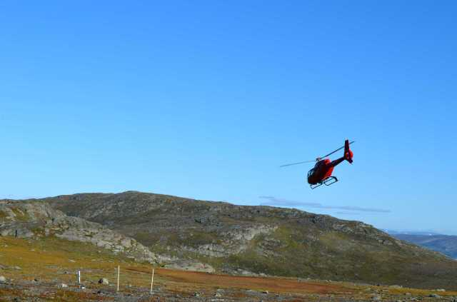 Helicopter back to Abisko