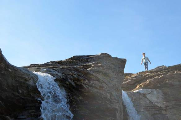 On top of a waterfall