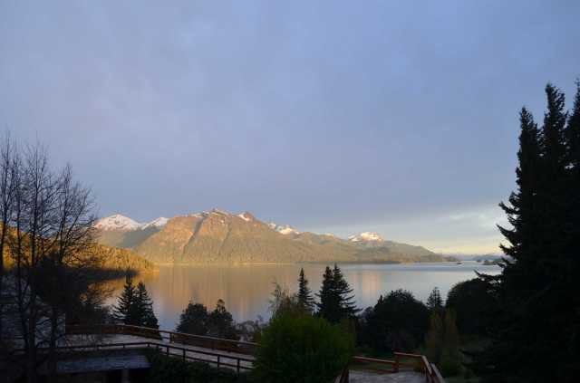Morning view on Bariloche's lake