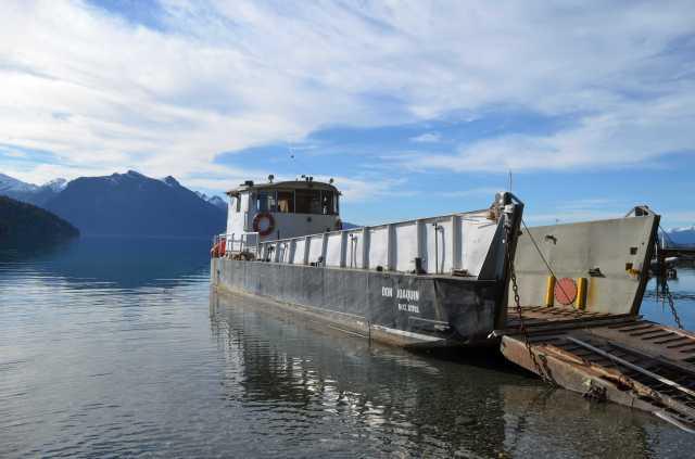 Harbor on the Nuapi lake Bariloche