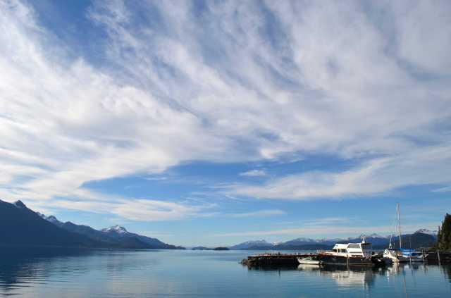 Wide views on Huapi lake