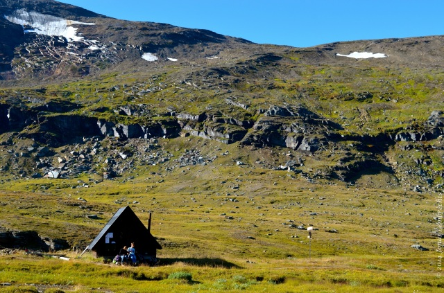 Hiking hut in mountains