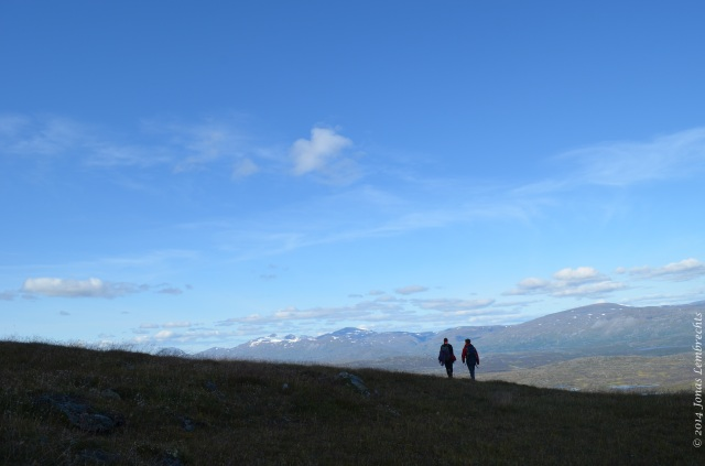Hiking in the Swedish mountains
