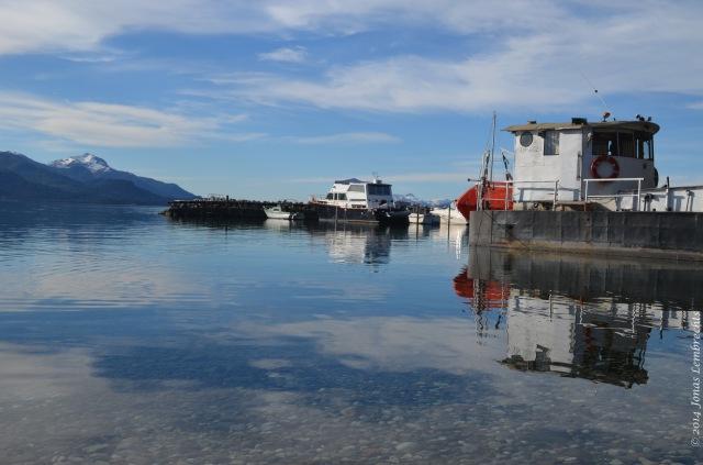Boat on lake Nahuel Huapi