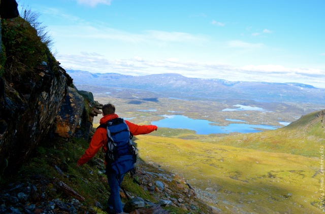 Hiking through the Scandinavian mountains in search for an experimental plot