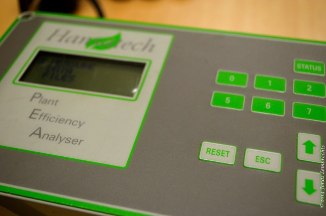 Plant efficiency analyser fluorescence