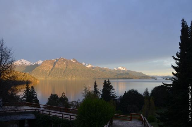 Morning sun on lake Nahuel Huapi, Bariloche