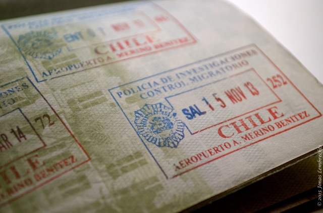 Passport stamp from Chile
