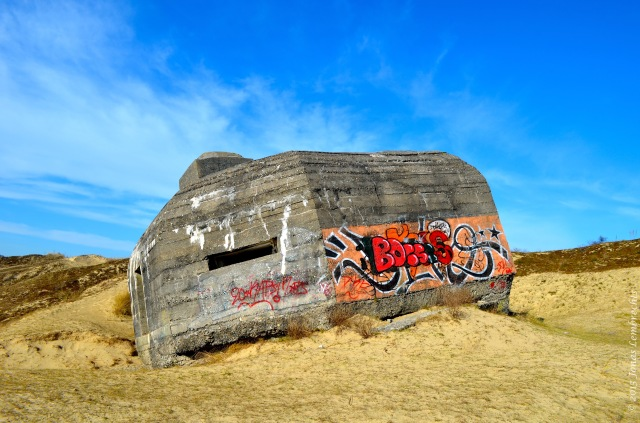 Bunker in French dunes