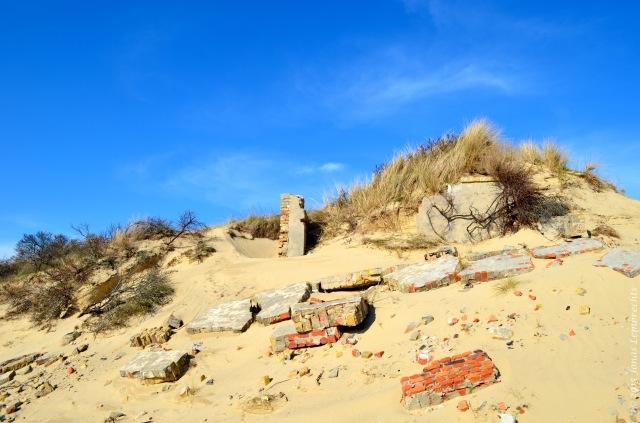 Damage by dune erosion