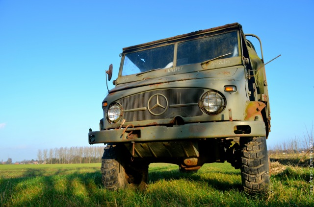 Old Mercedes arme truck