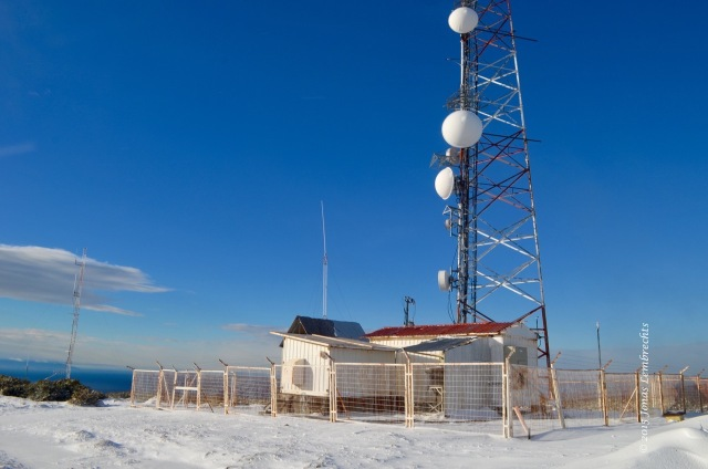 Television mast overlooking Punta Arenas