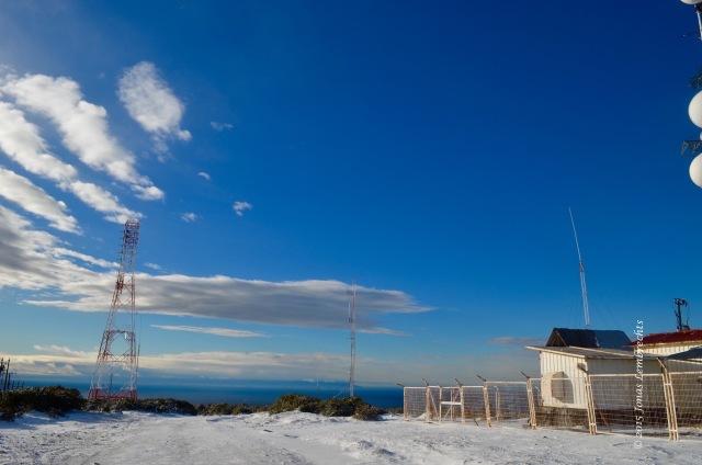 Buildings on top of Cerro Mirador