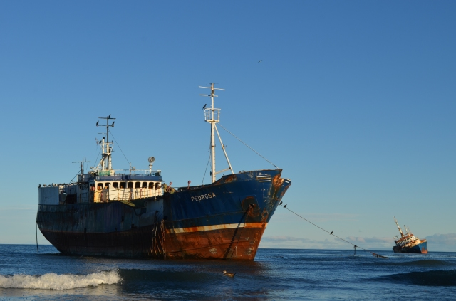 Abandoned ships in Punta Arenas