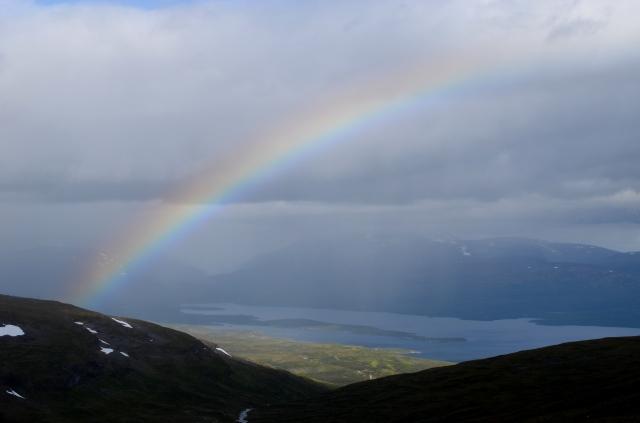 Rainbow over Björkliden