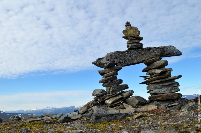 Stone man on top of Nuolja