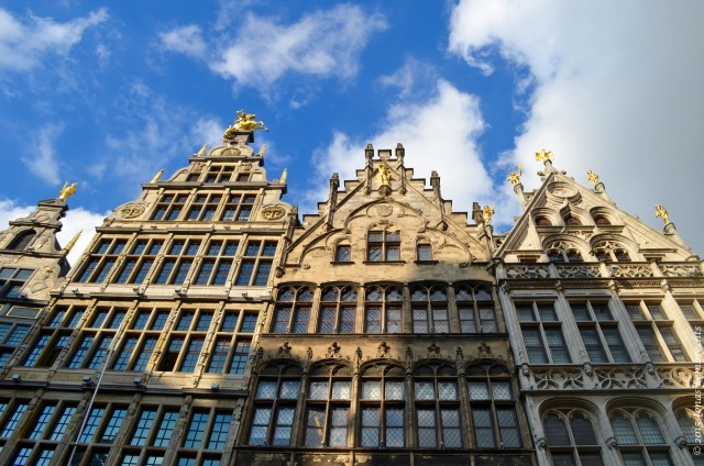 Old houses on the Grote Markt, Antwerp