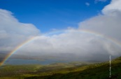 Rainbow over Laktajakka valley