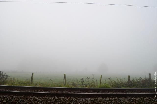 Railroad in the mist