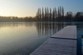 Enjoying silence and the morning sun