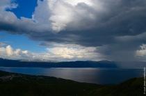 Thunderstorm over lake Törnetrask