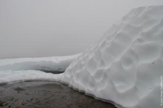 Melting snowpatch on a lake