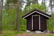 The little Fjällbu hytte in the forest