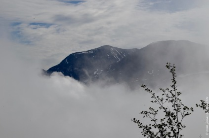 Low clouds and high mountains