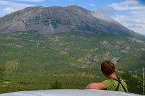 Admiring the Norwegian views