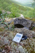 Measuring soil water content in the mountains