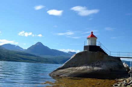 The little red lighthouse, Skjomen valley