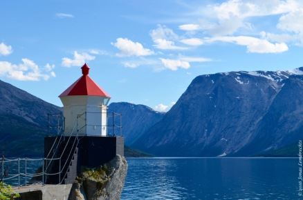 The little red lighthouse, Skjomen valley
