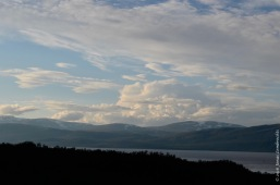 Lake Törnetrask with midnight sun