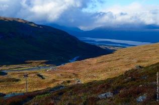 The valley of Björkliden in autumn