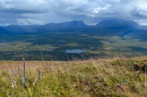 Our little experiment on top of the mountain in Abisko, with a view on Lapporten