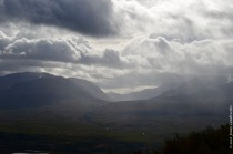 Rain blowing over the Abisko National Park