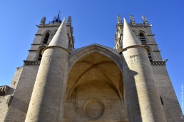 The entrance to the cathedral of Montpellier