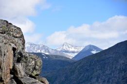 Steep rocks overlooking the Skjomen valley