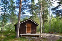 Our little hut in the Skjomen valley