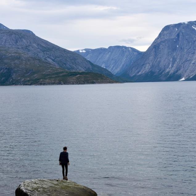 Overlooking the Skjomen fjord