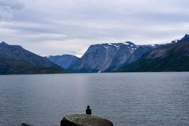 Overlooking the Skjomen fjord